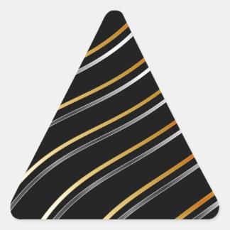 Fondo metálico de la onda pegatina triangular