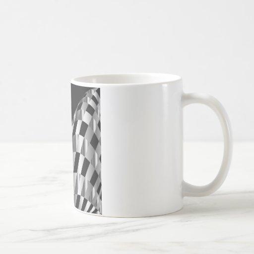 fondo metálico de la rejilla taza clásica