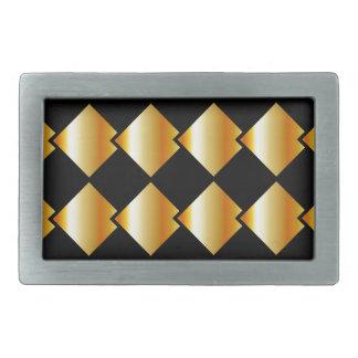 Fondo metálico de la teja hebilla cinturón rectangular