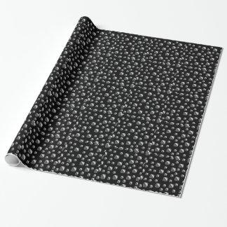Fondo metálico de la teja papel de regalo