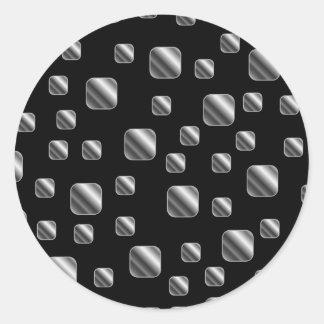 Fondo metálico de la teja etiqueta redonda