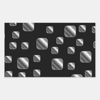 Fondo metálico de la teja rectangular pegatina