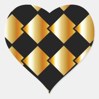 Fondo metálico de la teja pegatina en forma de corazón