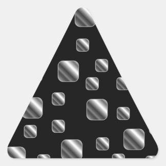Fondo metálico de la teja pegatina triangular
