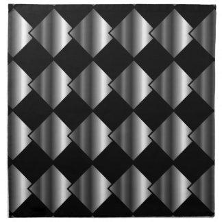 Fondo metálico de la teja servilletas