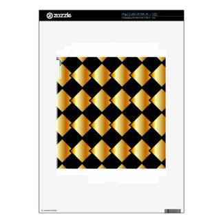 Fondo metálico de la teja skins para iPad 2