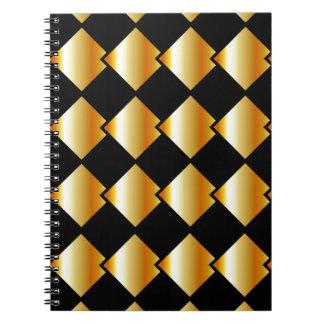 Fondo metálico de la teja spiral notebook