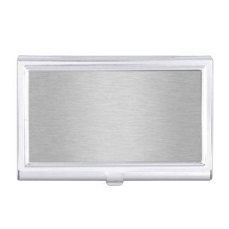 Fondo metálico de plata fresco caja de tarjetas de visita
