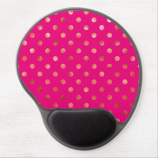 Fondo metálico del rosa del lunar de la hoja del alfombrilla de ratón con gel
