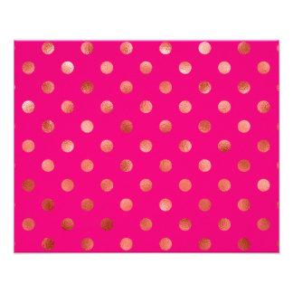 Fondo metálico del rosa del lunar de la hoja del cojinete