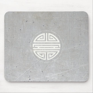 Fondo metálico del símbolo de la longevidad tapetes de raton