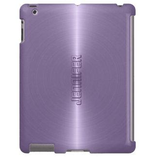 Fondo metálico púrpura del ciruelo llano del funda para iPad