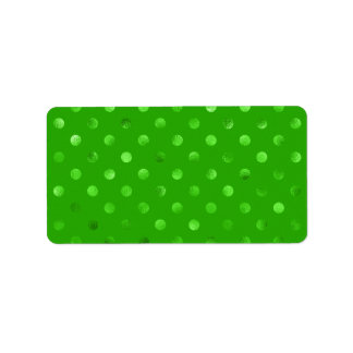 Fondo metálico verde de Kelly del lunar de la hoja Etiquetas De Dirección