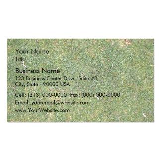 Fondo mezclado hermoso de la hierba tarjetas de visita