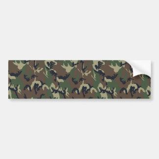 Fondo militar del camuflaje del bosque pegatina de parachoque