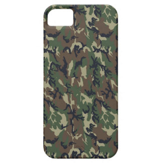 Fondo militar del camuflaje del bosque funda para iPhone SE/5/5s