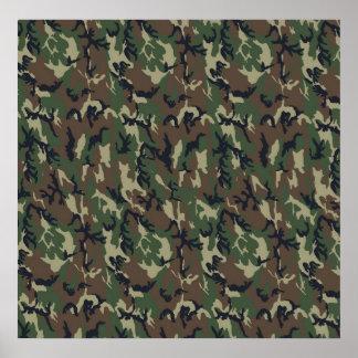 Fondo militar del camuflaje del bosque póster
