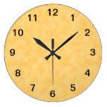 Fondo modelado amarillo reloj