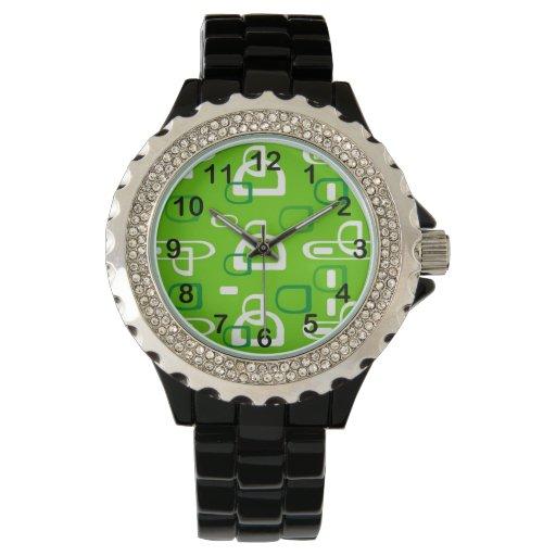 Fondo moderno verde relojes