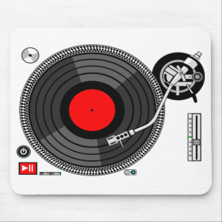 Fondo Mousepad de la placa giratoria de DJ