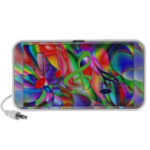 Fondo musical colorido iPhone altavoces