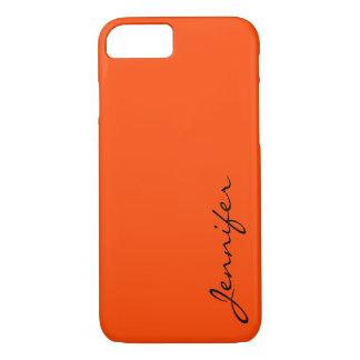 Fondo naranja-rojo del color funda iPhone 7