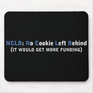Fondo NCLB ninguna galleta dejada detrás Alfombrilla De Raton