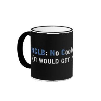 Fondo NCLB ninguna galleta dejada detrás Tazas De Café