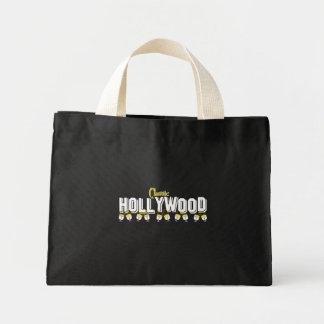 Fondo negro clásico de Hollywood Bolsa Tela Pequeña