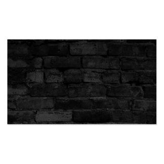 Fondo negro de la pared de ladrillo tarjetas de visita
