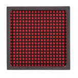 Fondo negro de los lunares y puntos rojos caja de regalo de calidad