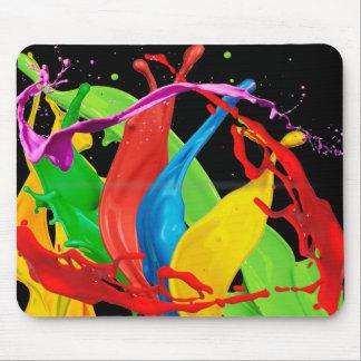 Fondo negro de Mousepad de los colores felices