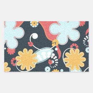 FONDO NEGRO FLORAL RETRO floral58 AZUL CLARO