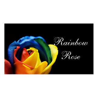 Fondo negro macro subió arco iris tarjetas de visita