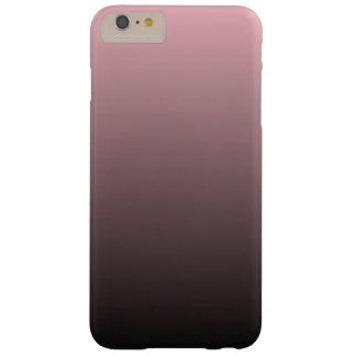 Fondo negro rosado de Ombre Funda De iPhone 6 Plus Barely There