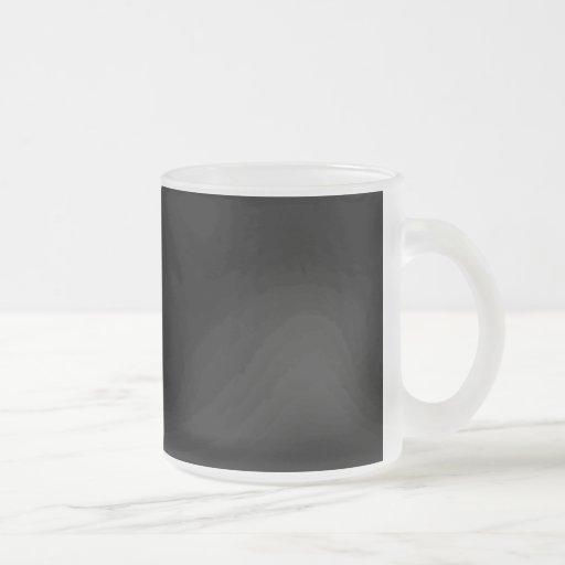 Fondo negro taza de café