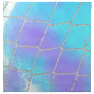 Fondo neto con azul claro servilletas imprimidas