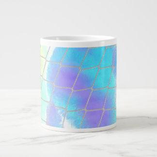Fondo neto con azul claro taza grande