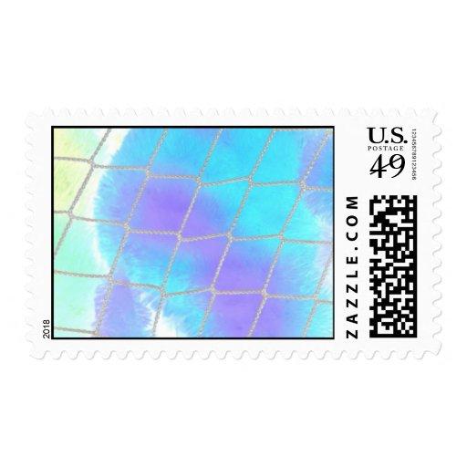 Fondo neto con azul claro timbre postal