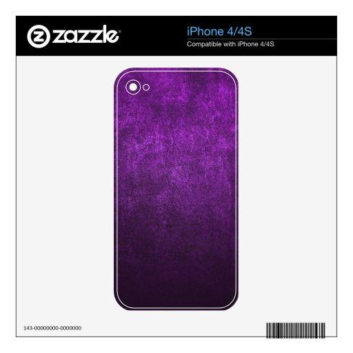 Fondo o papel púrpura abstracto con brillante iPhone 4 calcomanía