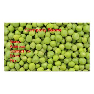 Fondo orgánico de los guisantes verdes (Pisum Tarjetas De Visita