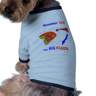 Fondo oscuro rasante grande anti de Obama Camisetas De Perro