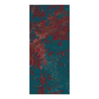 Fondo oxidado azul tarjeta publicitaria personalizada