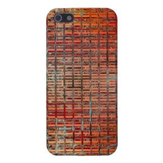 Fondo oxidado de las tejas iPhone 5 carcasas