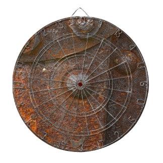 Fondo oxidado tablero de dardos