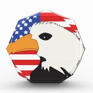 Fondo patriótico de la bandera de American Eagle