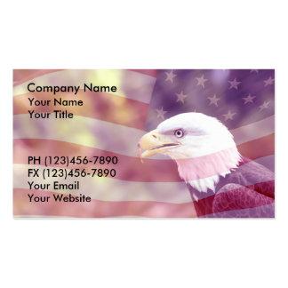 Fondo patriótico de las tarjetas de visita