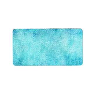 Fondo personalizado acuarela azul brillante etiqueta de dirección