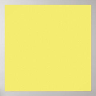 Fondo personalizado amarillo del color de la póster