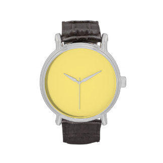 Fondo personalizado amarillo del color de la tende relojes de mano